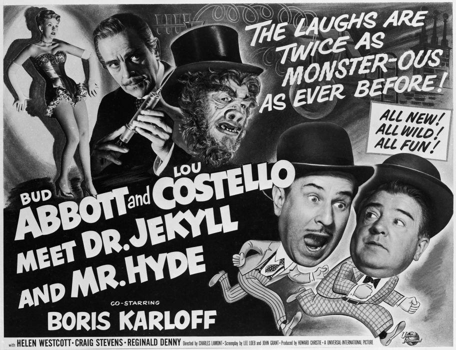 ABBOTT and COSTELLO comedy retro televion movie film poster halloween wallpaper