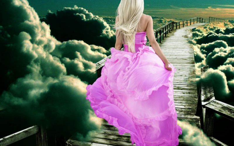 blondes women dress pink wallpaper