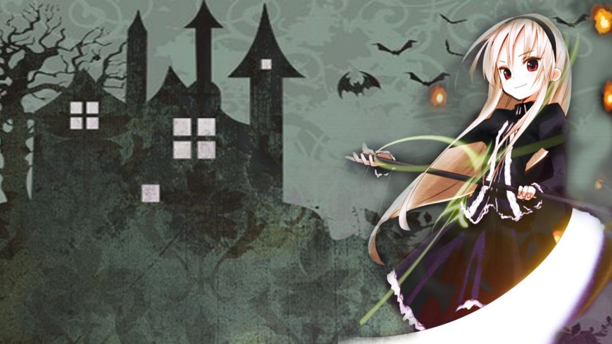 Halloween anime girls wallpaper