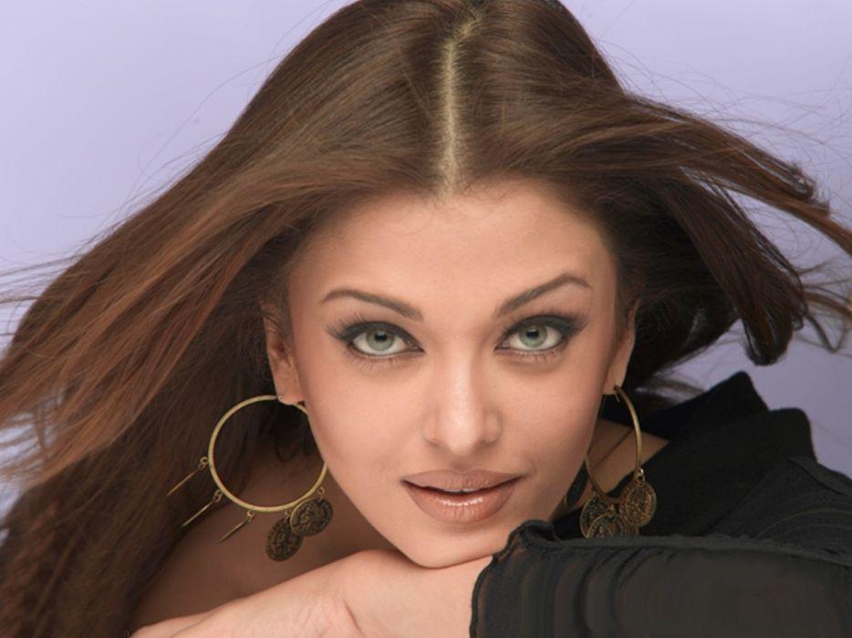 brunettes women actress long hair celebrity Aishwarya Rai Bollywood expressionism faces wallpaper