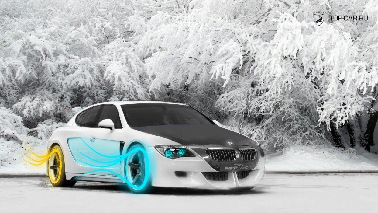 winter BMW colors wallpaper