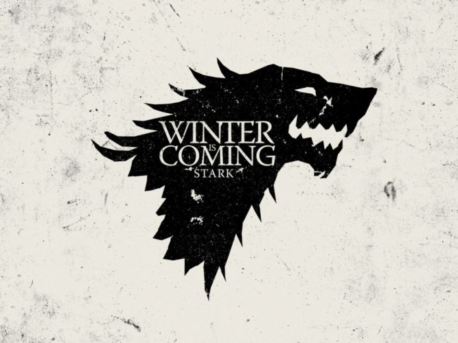 White Crest Game Of Thrones Winter Is Coming Direwolf