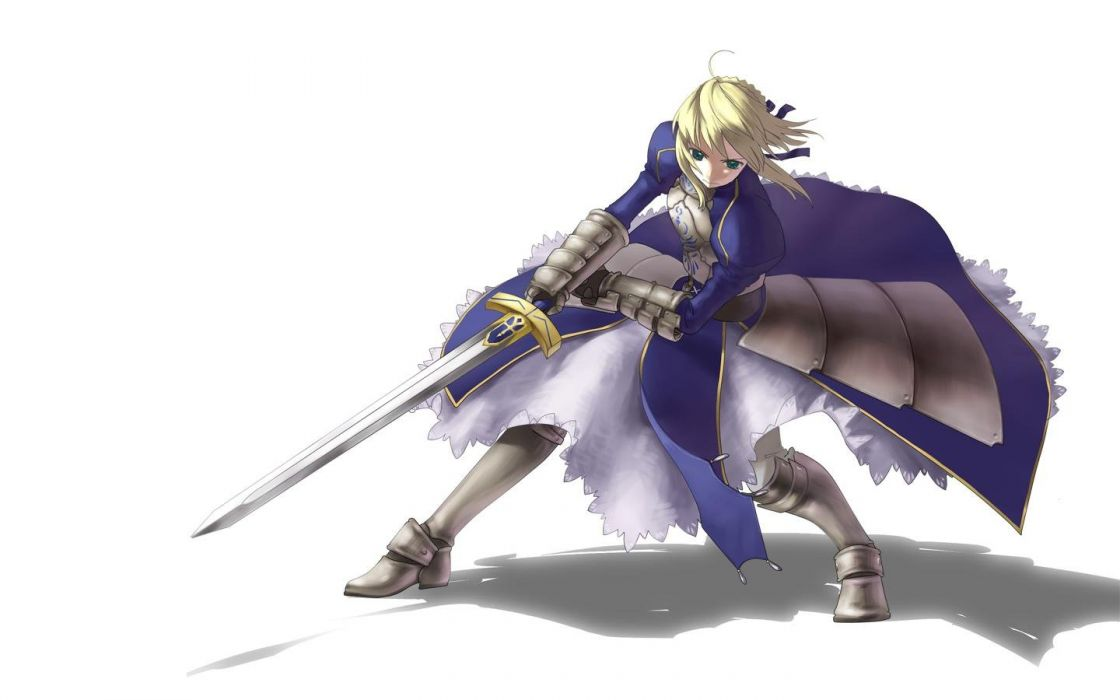 Fate/Stay Night Saber  simple background Fate series wallpaper