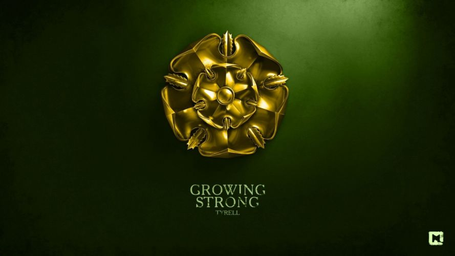 multicolor Game of Thrones TV series House Tyrell Growing Strong wallpaper