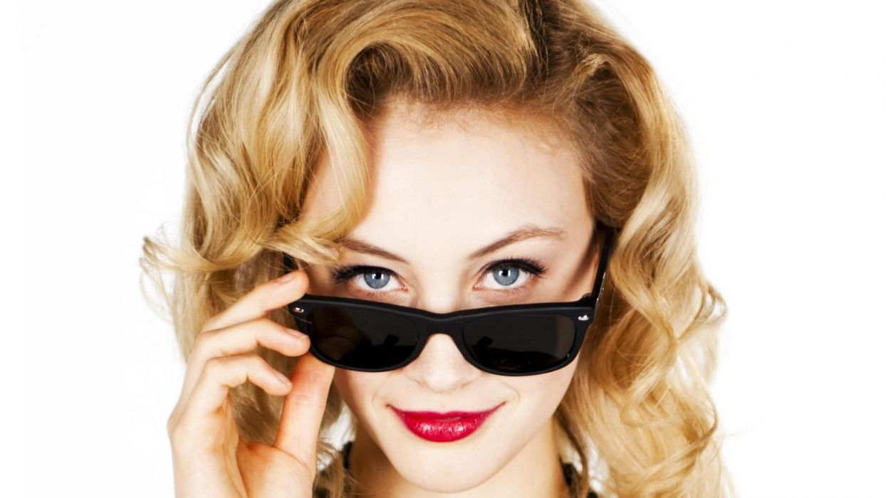 blondes women blue eyes actress faces Sarah Gadon wallpaper