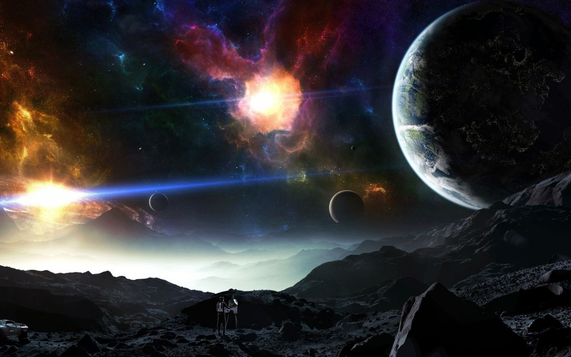 outer space planets Tyler Young wallpaper