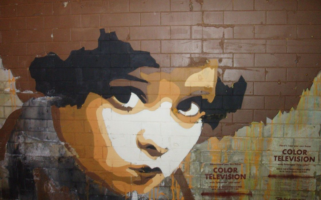 graffiti stencil wallpaper