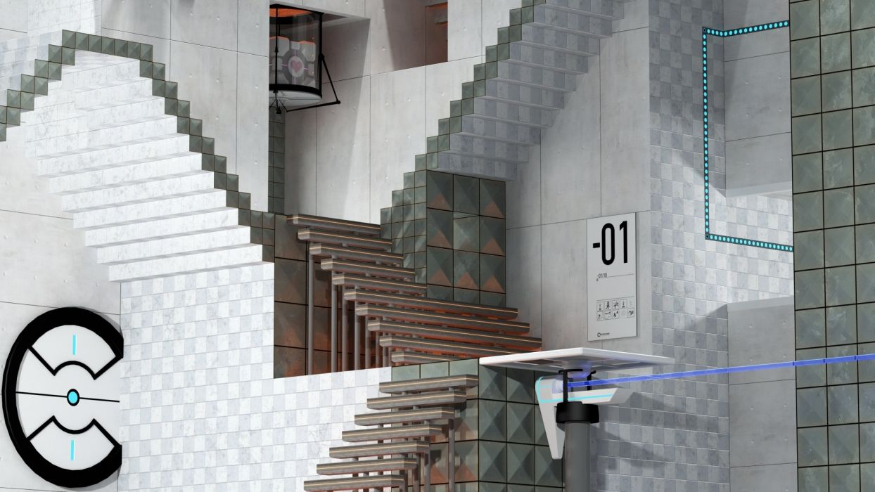 Portal stairways MC Escher wallpaper