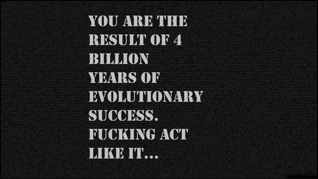 text evolution motivation wallpaper