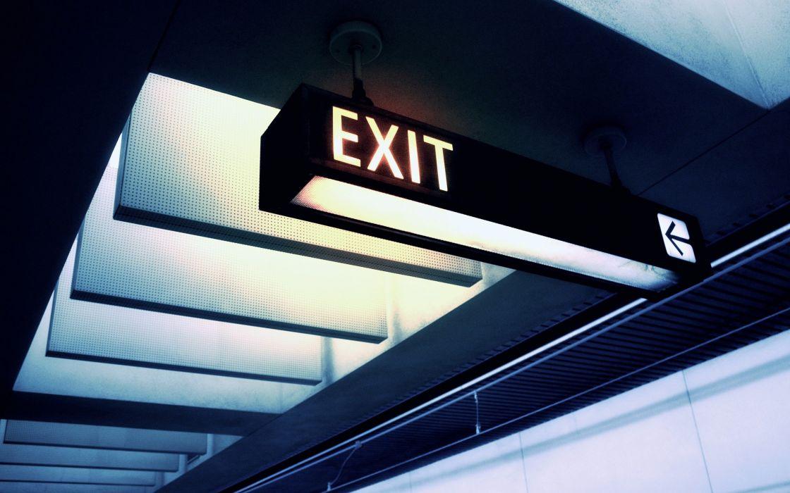 exit sign board wallpaper