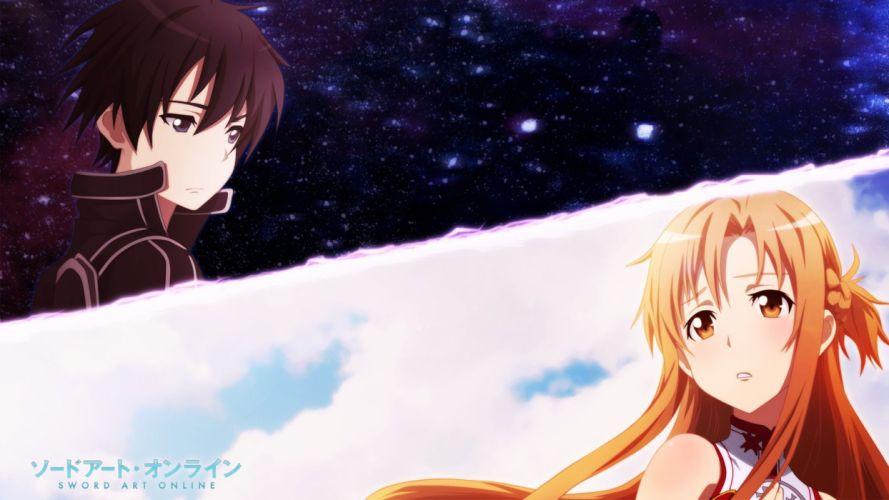 anime Sword Art Online Yuuki Asuna Kirigaya Kazuto Kirito wallpaper