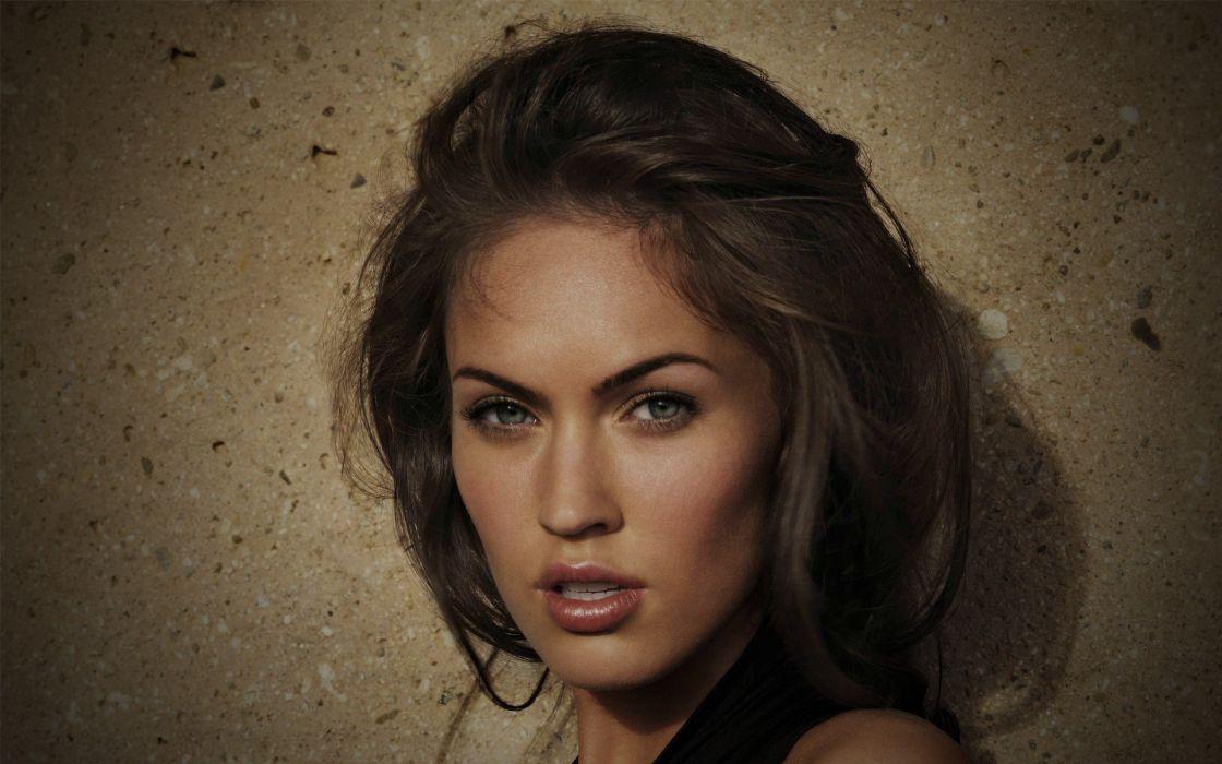 brunettes women Megan Fox actress celebrity faces wallpaper