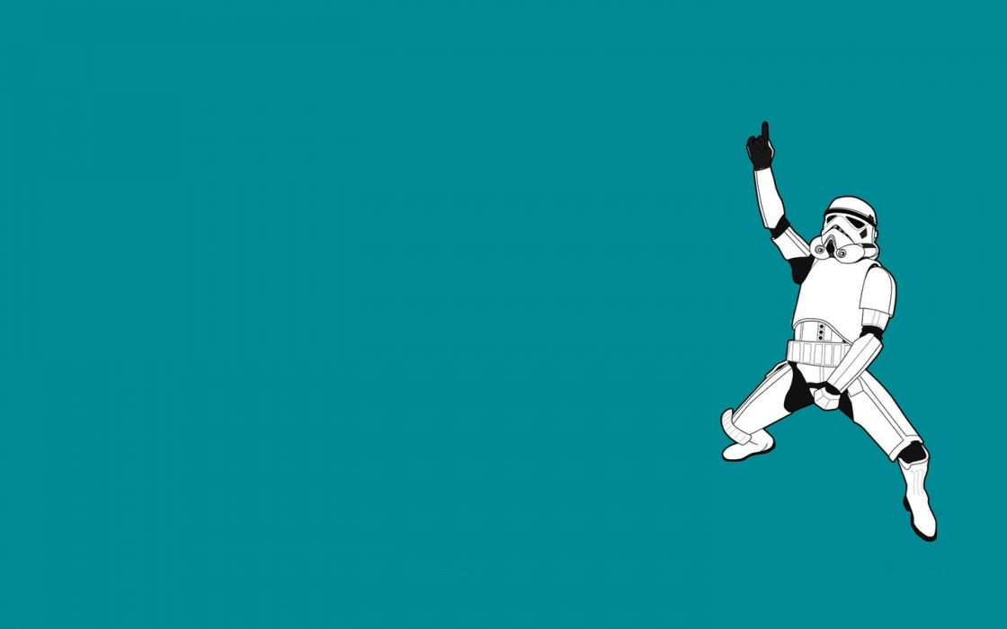 Star Wars stormtroopers funny dance Threadless simple background wallpaper