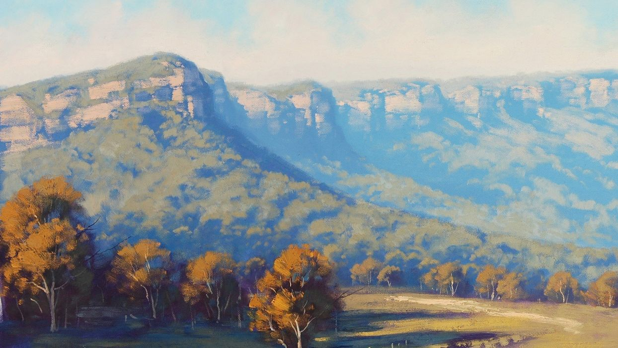 paintings MEGALONG VALLEY wallpaper