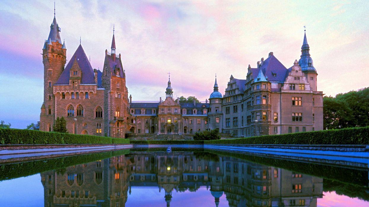 Poland castle Moszna wallpaper