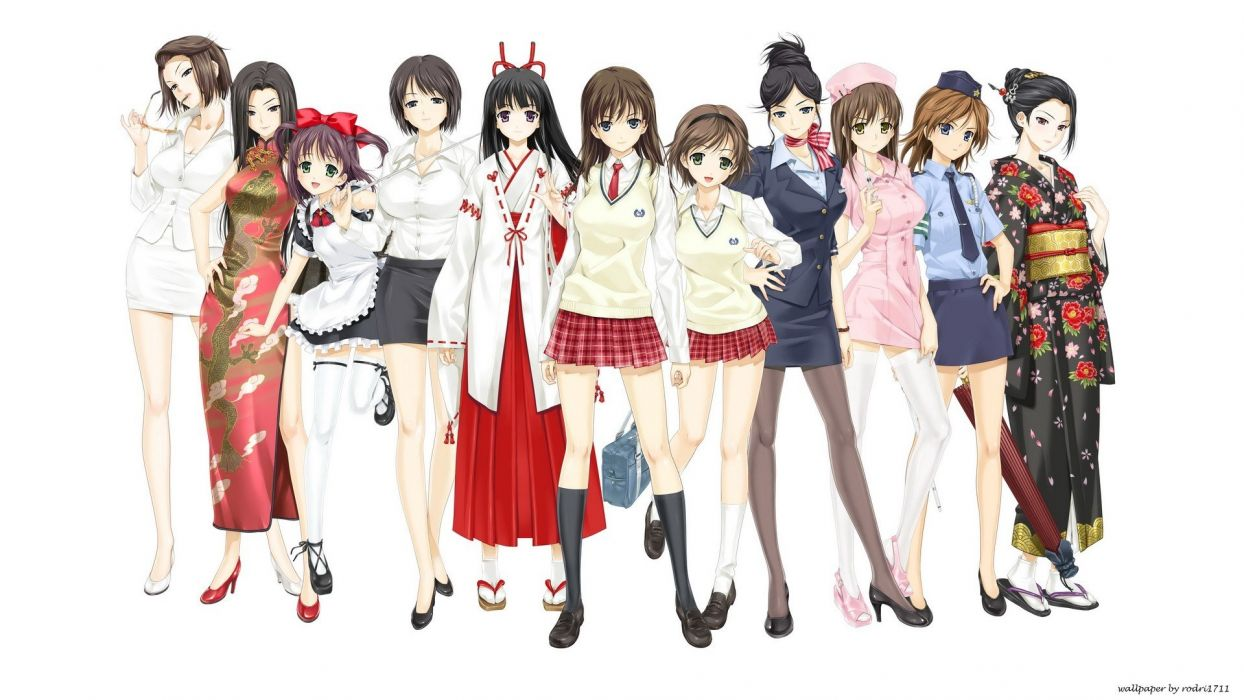 school uniforms anime Japanese clothes anime girls Chinese clothes wallpaper