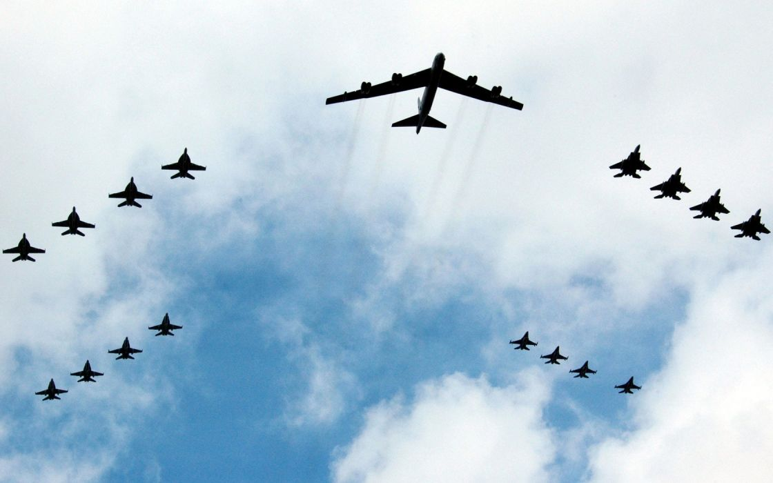 aircraft military bomber B-52 Stratofortress wallpaper