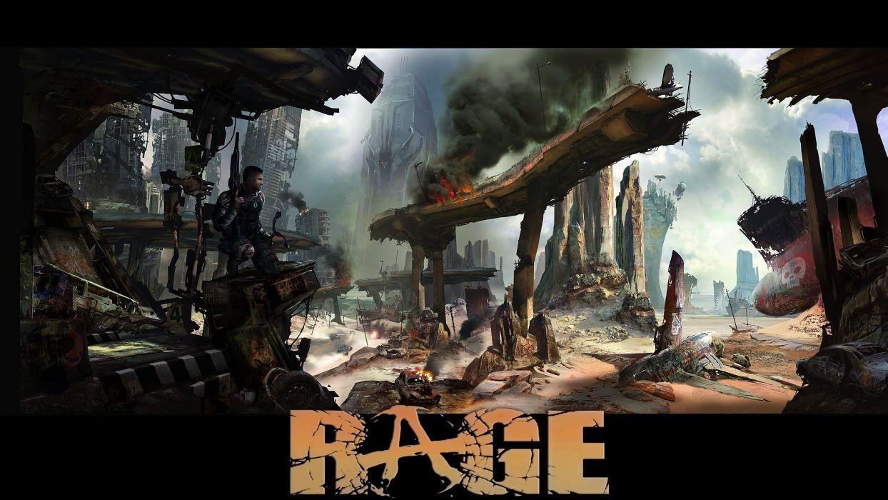 video games destruction Rage (Video Game) wallpaper