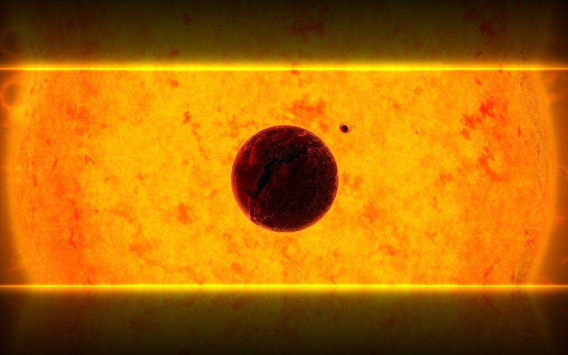 Sun outer space wallpaper