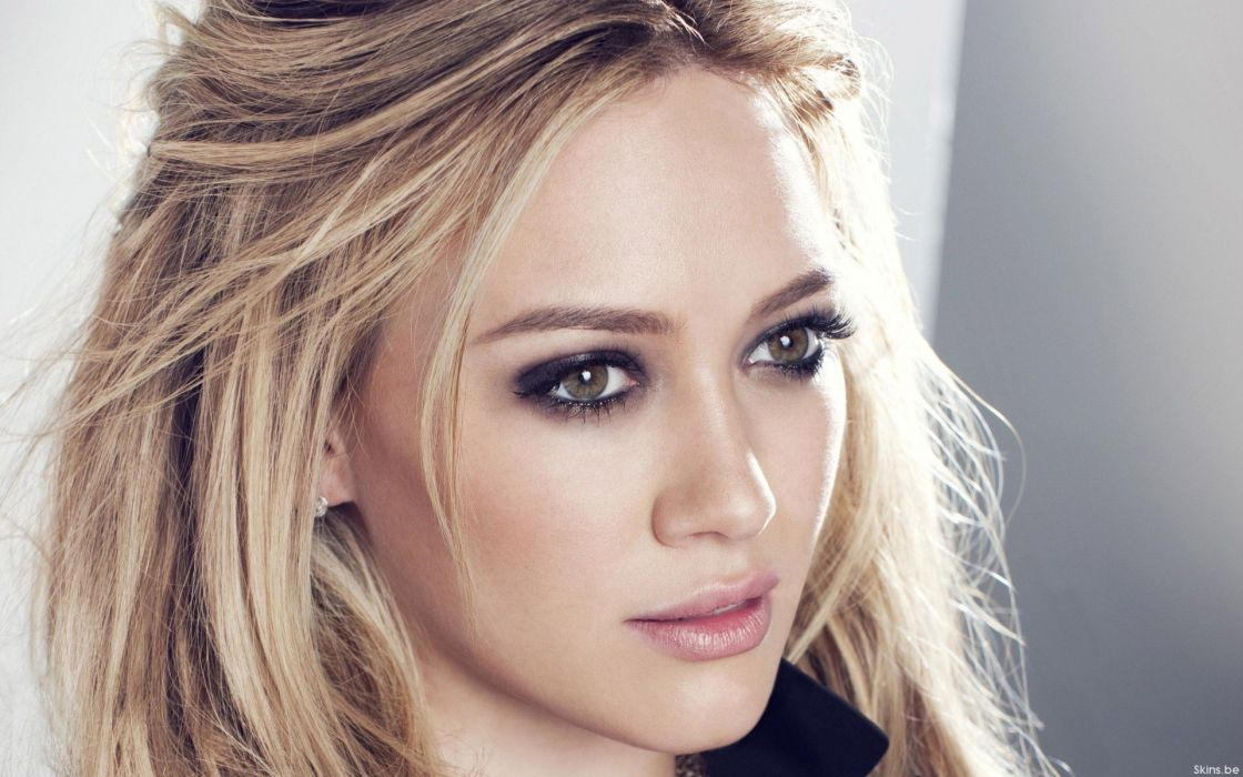 blondes women Hilary Duff faces wallpaper