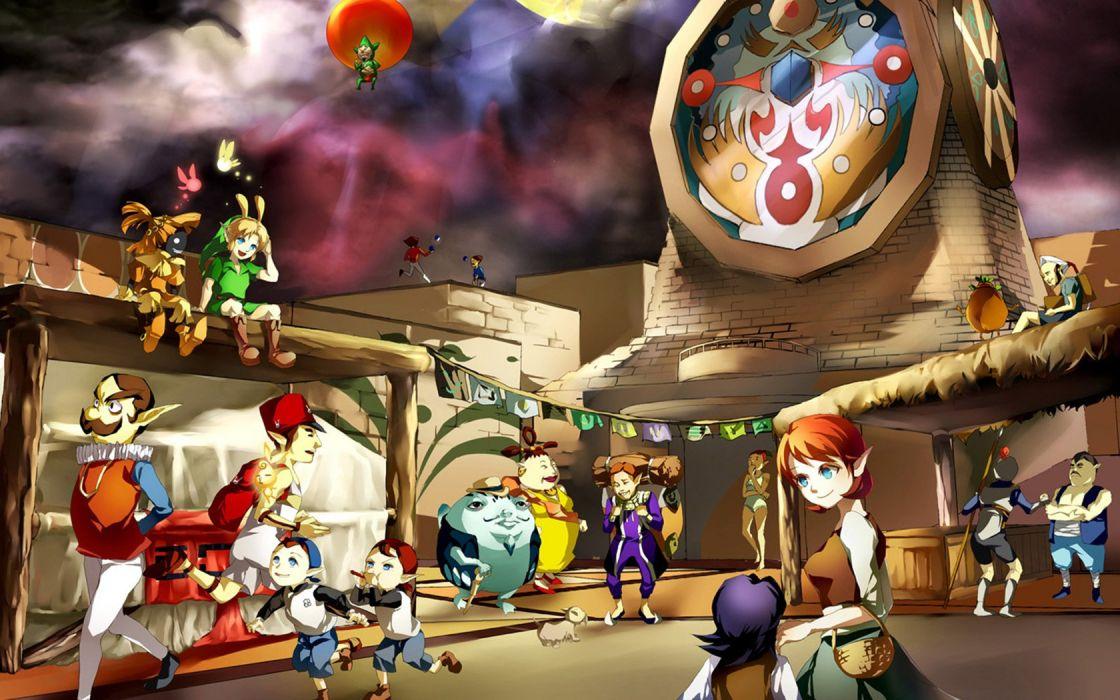 video games Link The Legend of Zelda: Majoras Mask clocktowers wallpaper