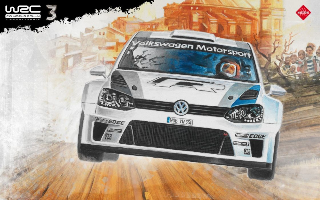 video games cars rally artwork vehicles racing WRC polo rally cars World Rally Championship racing cars rally car Polo WRC Volkswagen Polo R WRC wrc 3 wallpaper