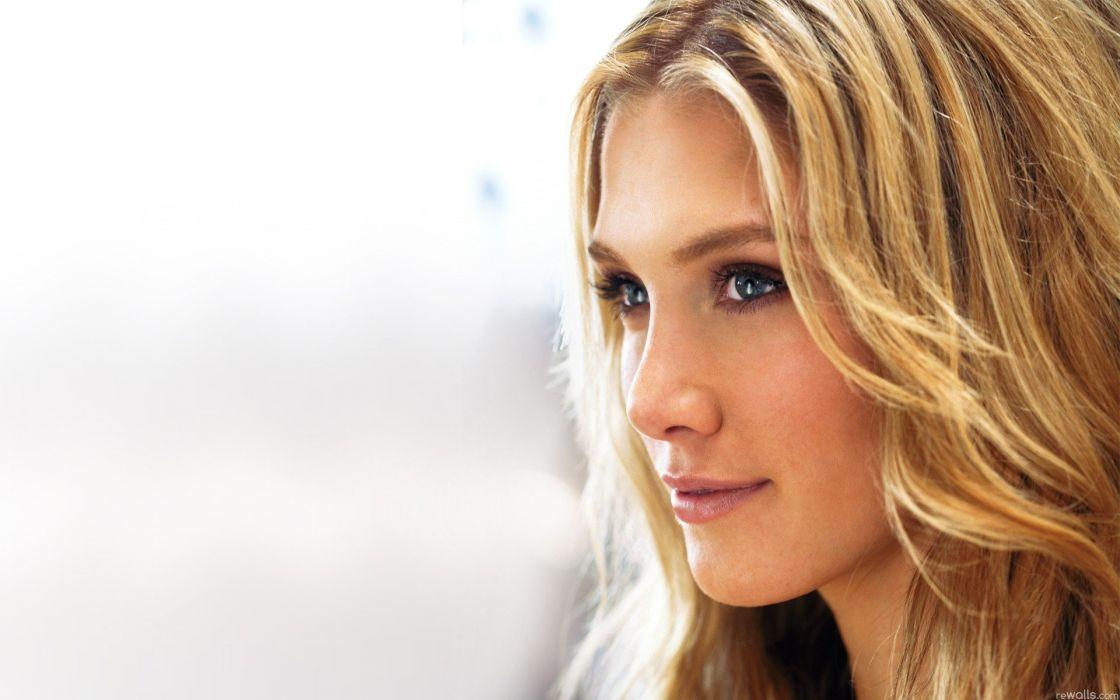 blondes women blue eyes Delta Goodrem Australian faces white background portraits wallpaper