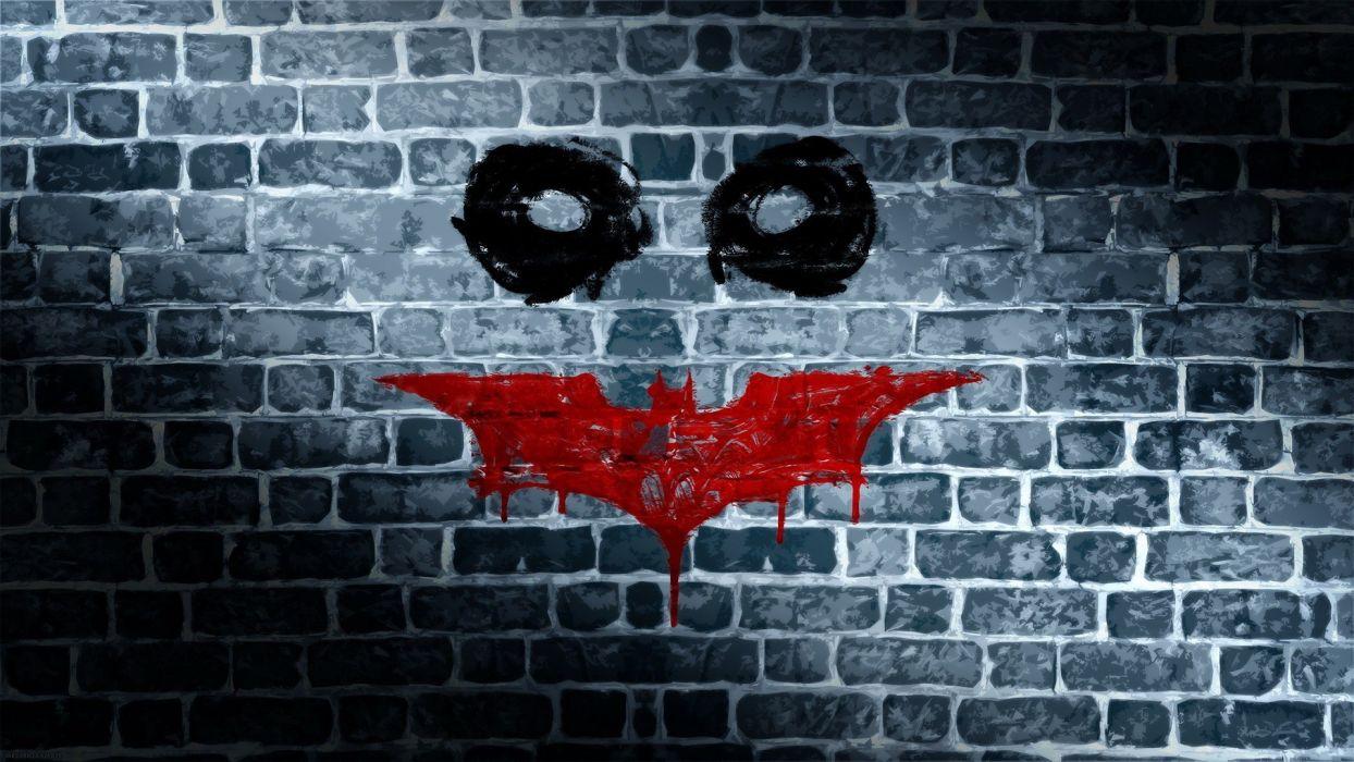 Batman wall symbol funny wallpaper