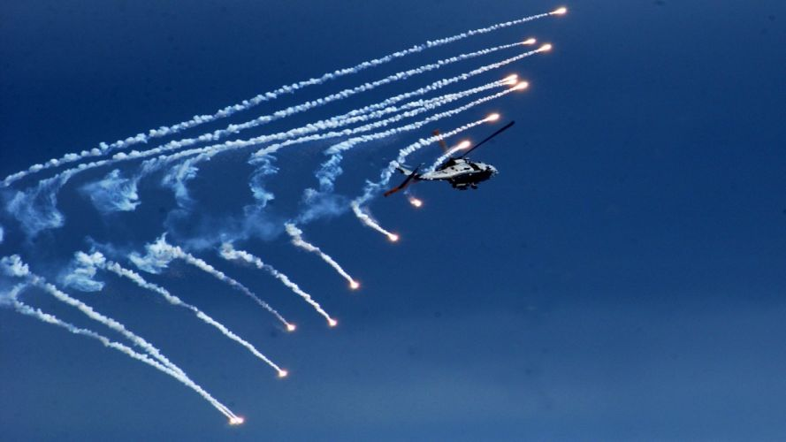 aircraft military helicopters vehicles flares contrails wallpaper