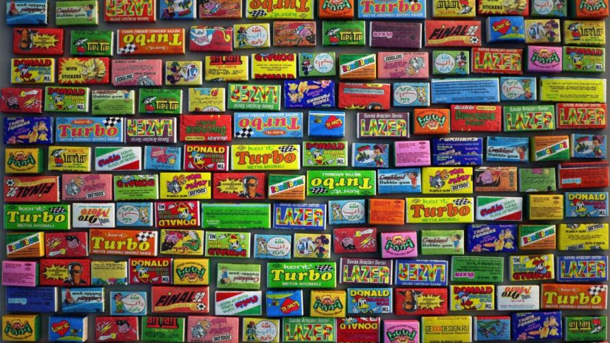 gum 80's Gummy wallpaper