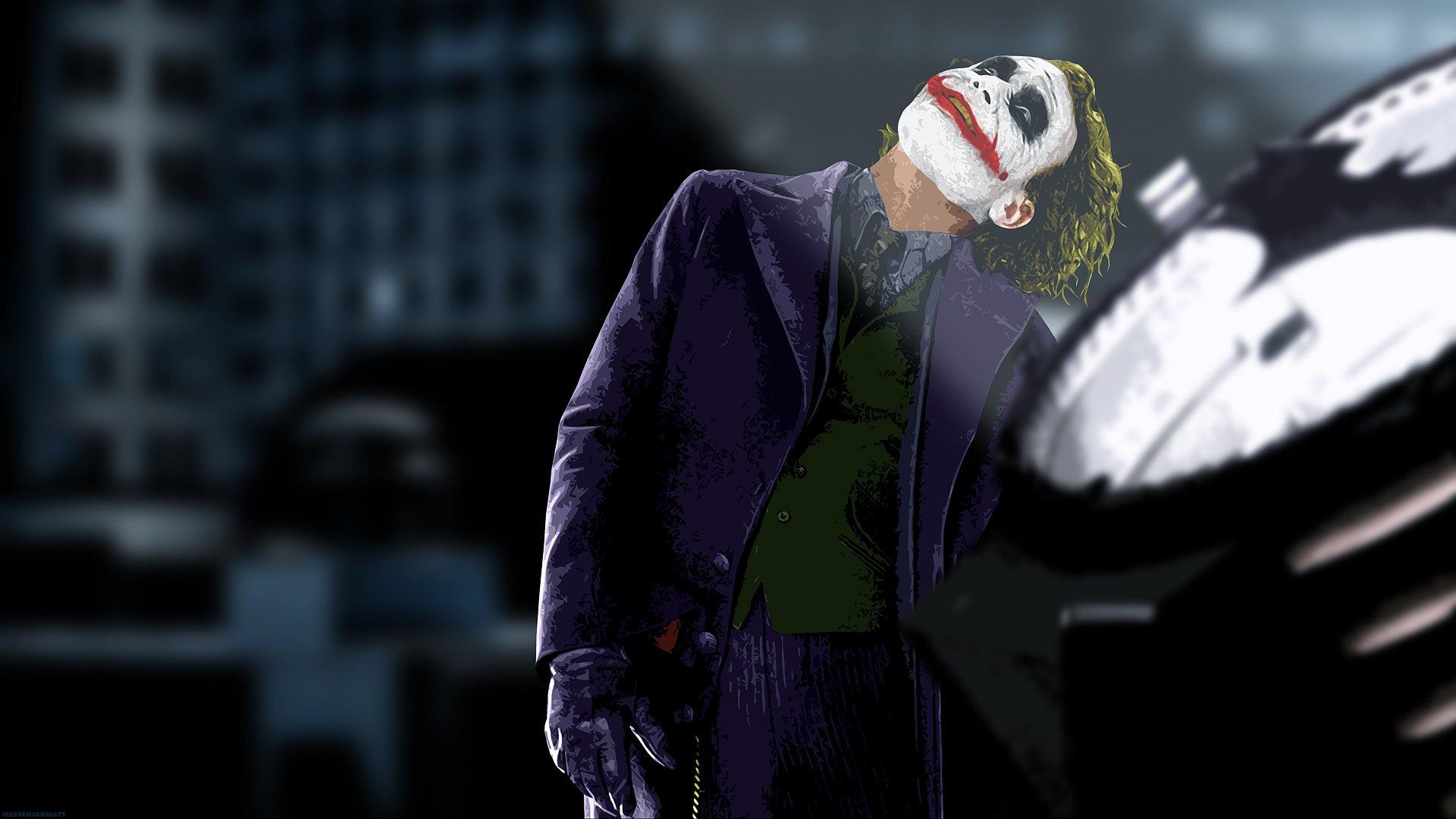 The Joker The Dark Knight Wallpaper 1920x1080 274922 Wallpaperup