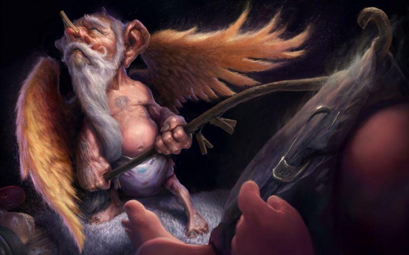 fantasy art creatures fans wallpaper