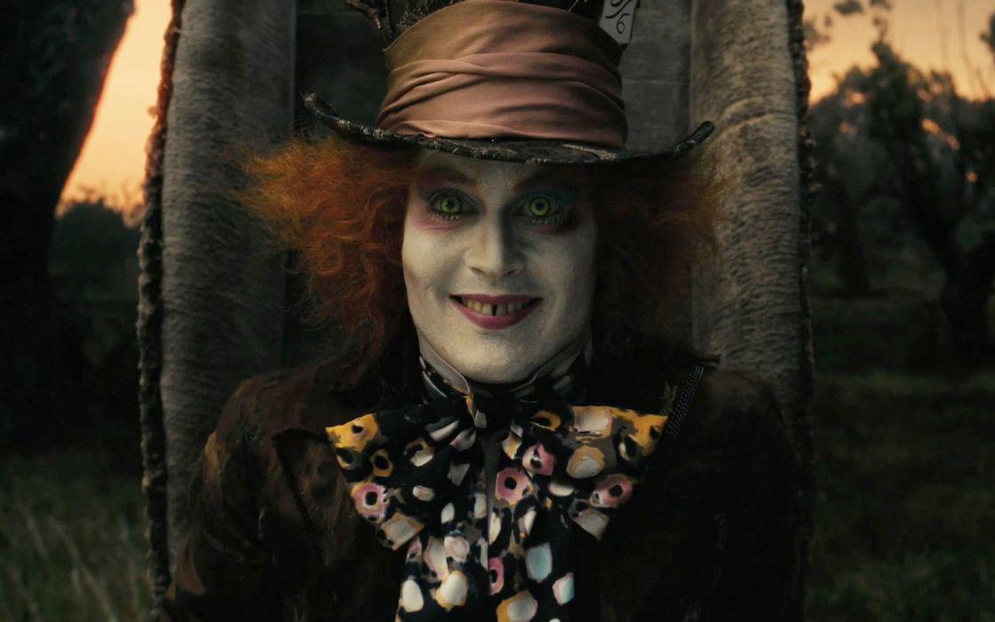movies Alice in Wonderland screenshots Mad Hatter Johnny Depp wallpaper