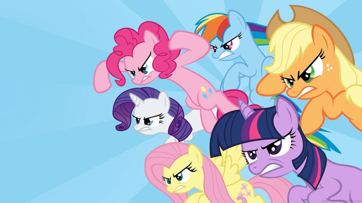 fight Fluttershy ponies Rainbow Dash Twilight Sparkle Rarity Pinkie Pie Applejack My Little Pony: Friendship is Magic wallpaper