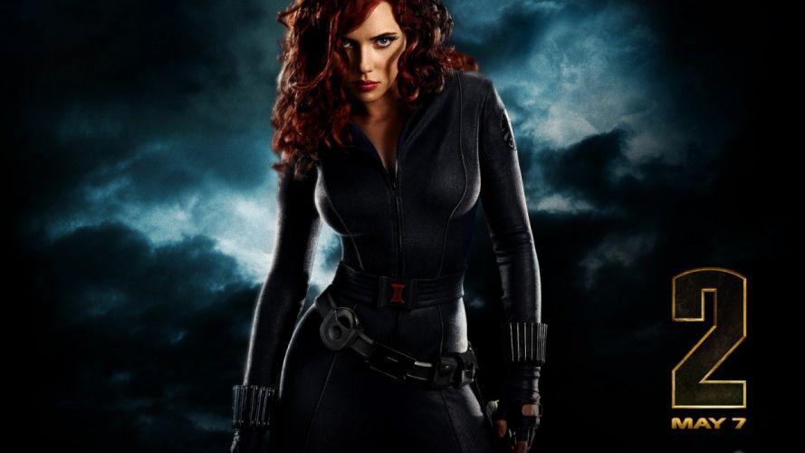 Scarlett Johansson Black Widow Iron Man 2 wallpaper
