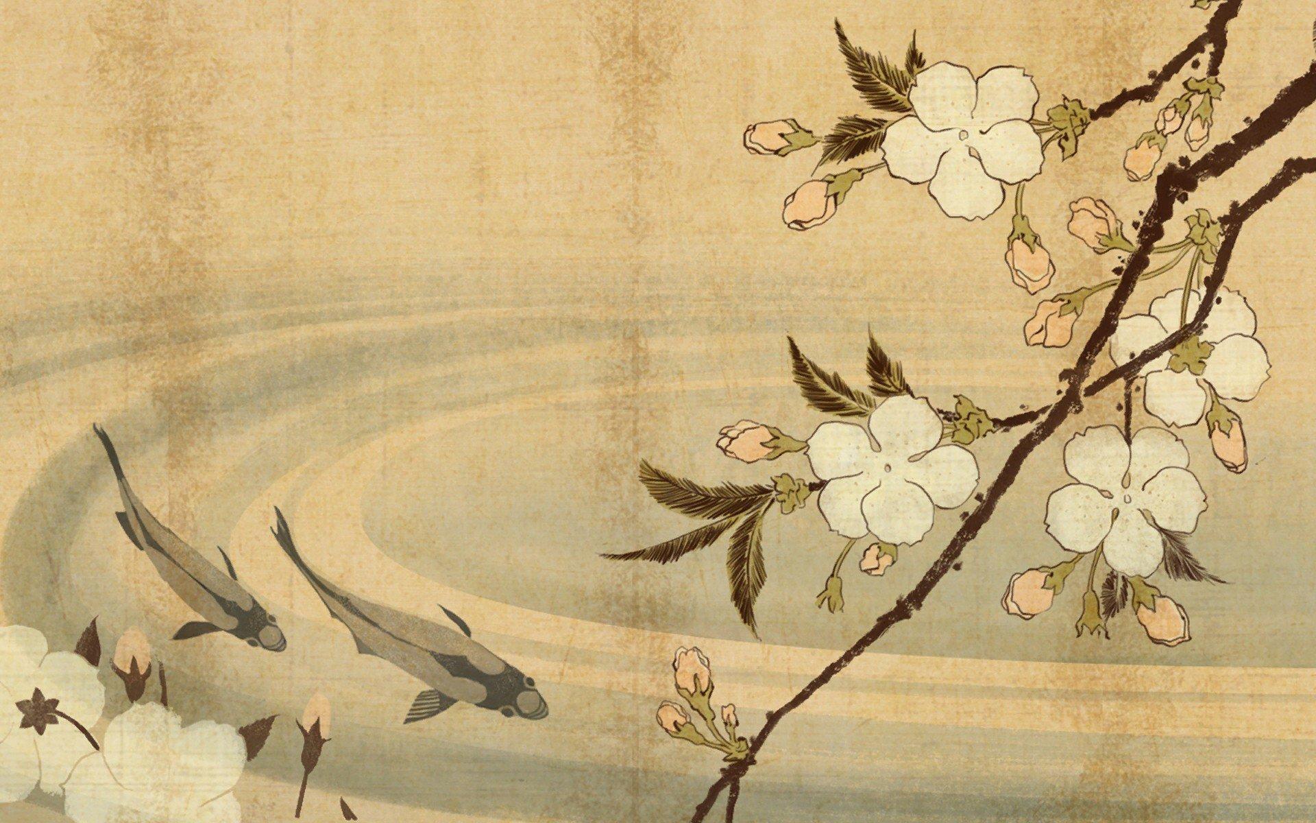 Japan Japanese Shogun Shogun 2 Total War Floral Wallpaper