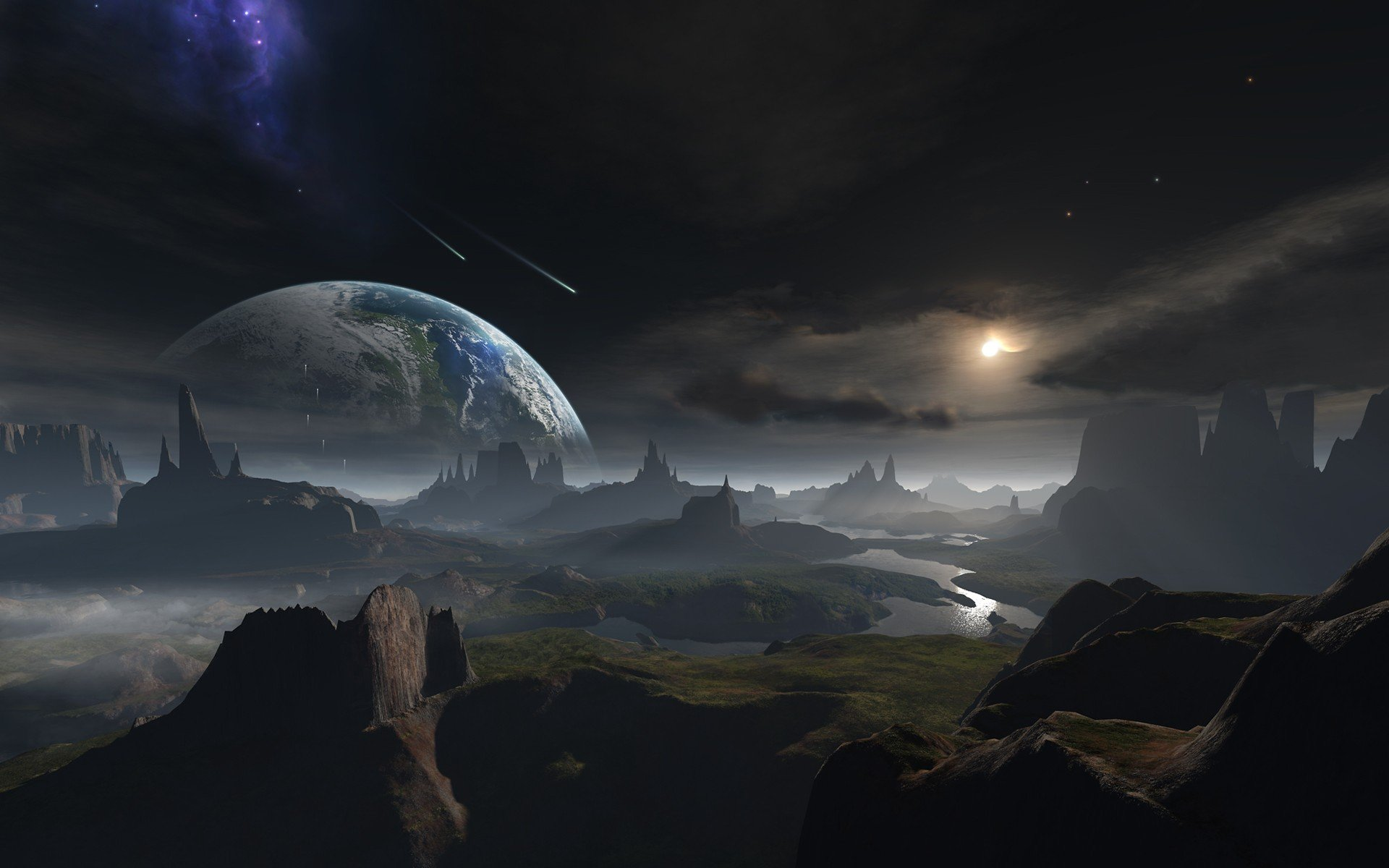 Science fiction planets wallpaper page 2 pics about space for Outer space planets