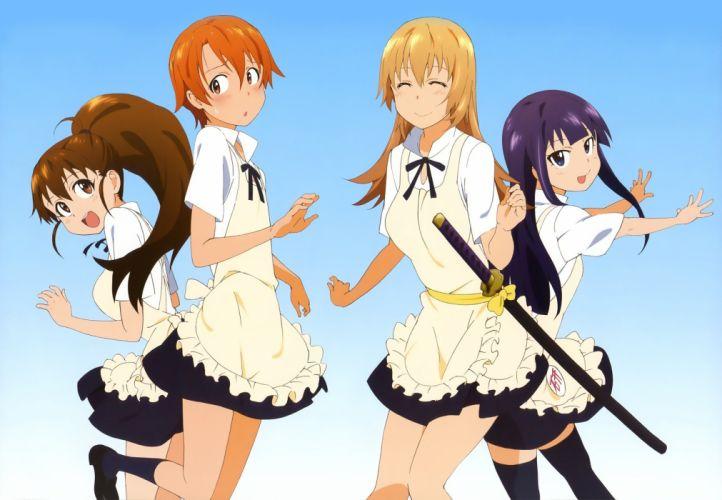 Working!! (Anime) Yamada Aoi Taneshima Popura Todoroki Yachiyo Inami Mahiru wallpaper