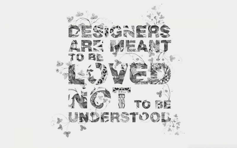 typography grayscale Designers wallpaper