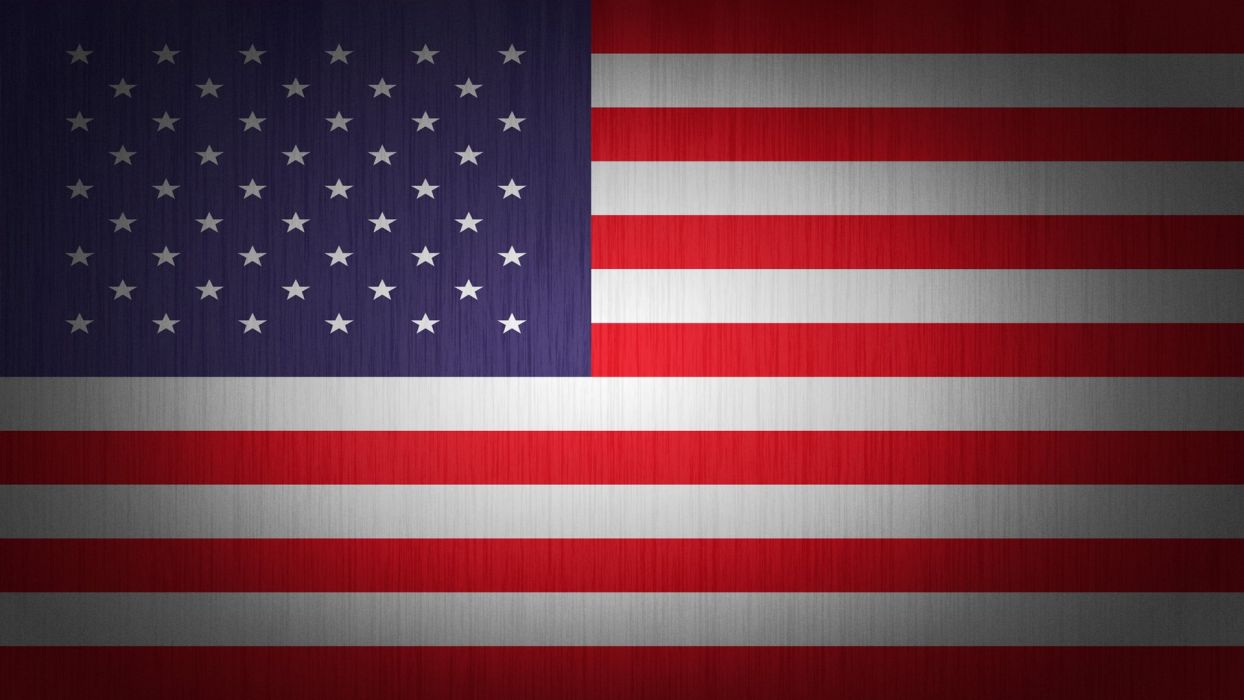 blue red white flags USA American Flag wallpaper