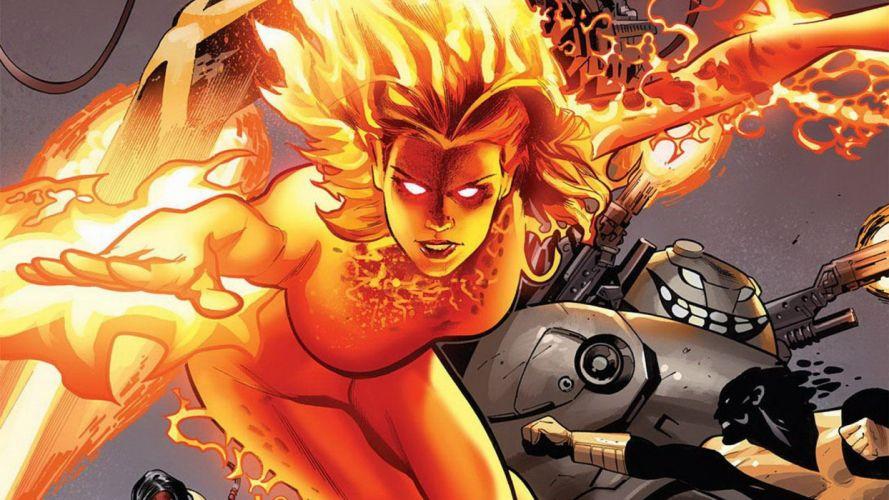 comics fire Marvel Comics comics girls Second Coming wallpaper