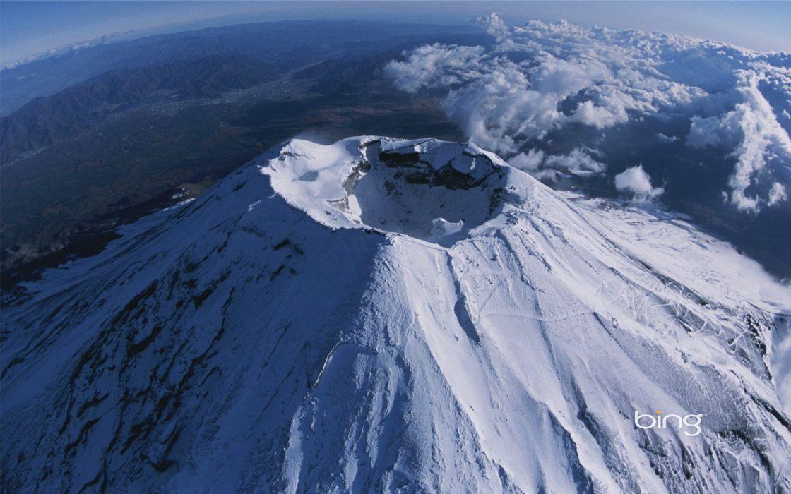 landscapes Mount Fuji volcanoes wallpaper