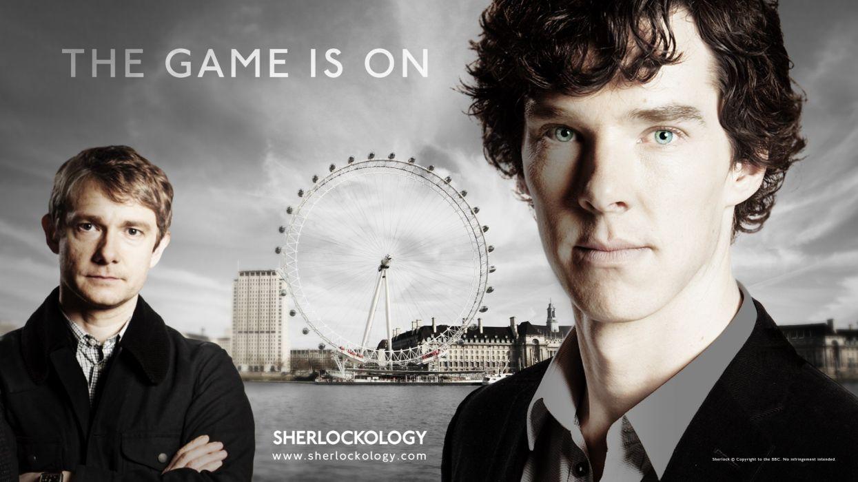 Sherlock Holmes TV series Benedict Cumberbatch Martin Freeman Sherlock BBC wallpaper