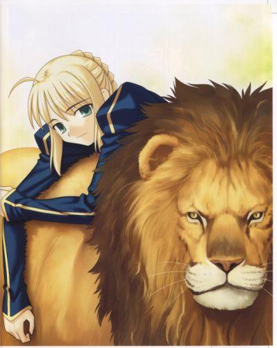 visual novels Type-Moon concept art artwork anime Saber lions wallpaper