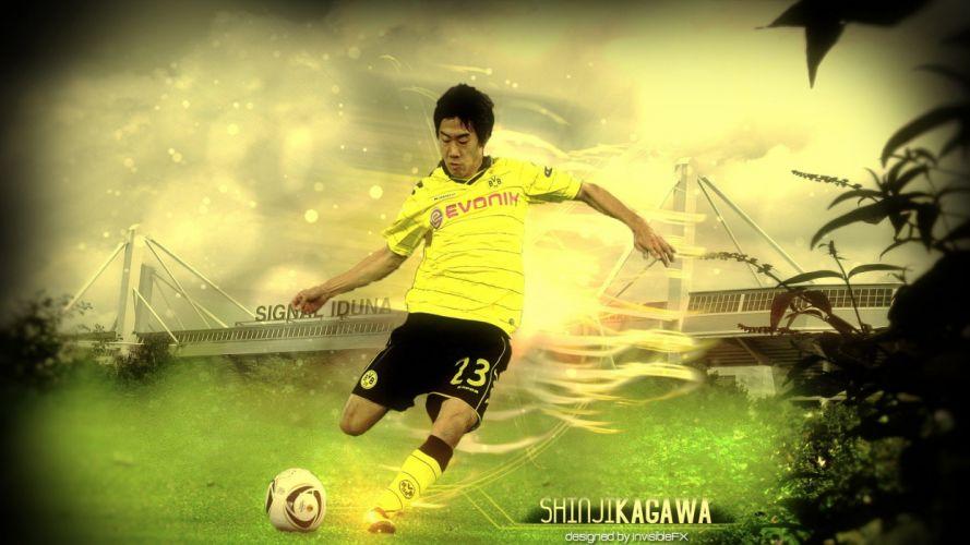 sports soccer borussia dortmund football player Shinji Kagawa Bundesliga Kagawa BVB BVB09 wallpaper