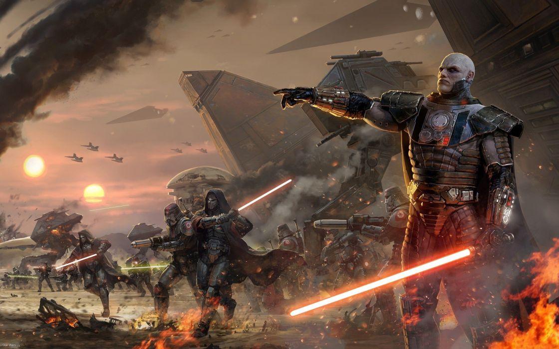 Star Wars lightsabers Sith artwork Star Wars: The Old Republic Coruscant Darth Malgus wallpaper
