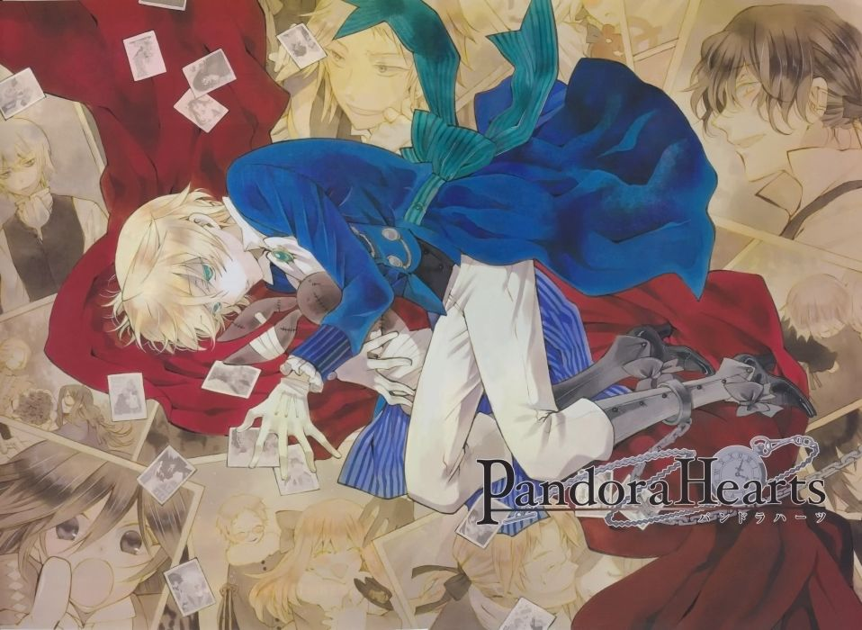 boots blondes Pandora Hearts stuffed animals pocket watch anime boys Gilbert Nightray Oz Vessalius chains wallpaper