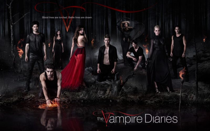 VAMPIRE DIARIES drama fantasy horror television series poster wallpaper