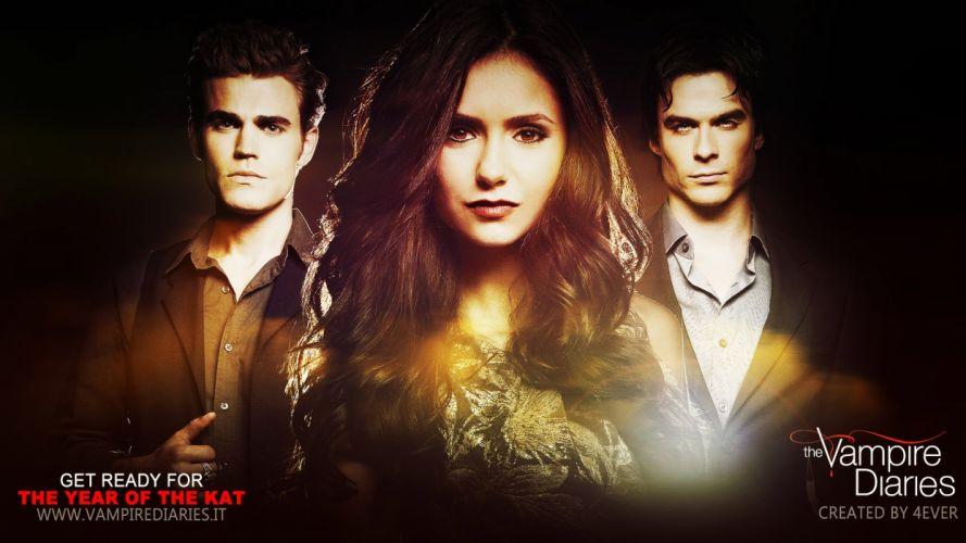 VAMPIRE DIARIES drama fantasy horror television series poster wallpaper