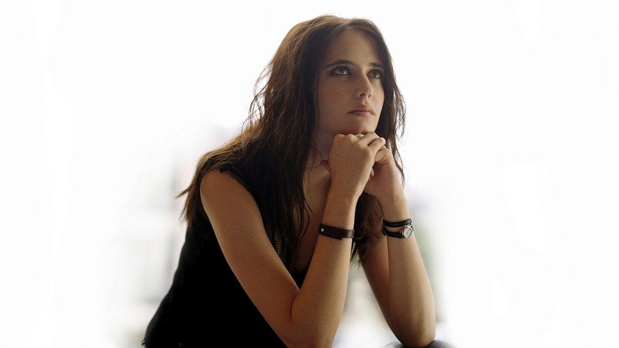 brunettes women actress rings Eva Green bracelets wristwatch Bond Girl looking up wristbands wallpaper